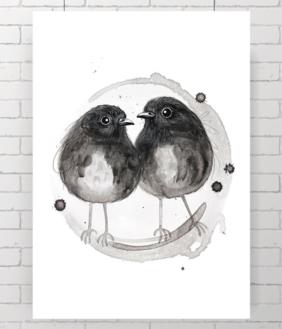 Robins - the original painting