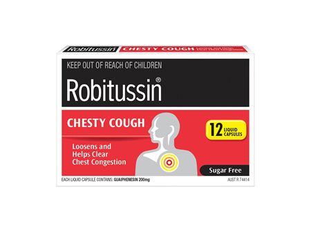 Robitussin Chesty Cough Liquid Capsules