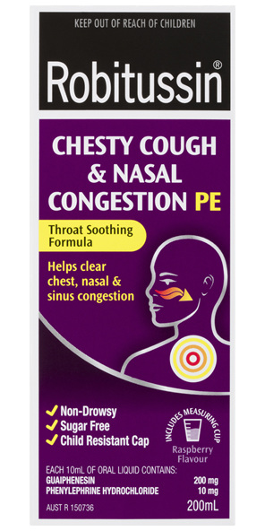 Robitussin Chesty Cough Amp Nasal Congestion Pe 200ml