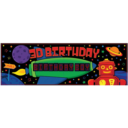 Robot Giant Party Banner
