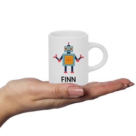 Robot Personalised Fluffy Mug