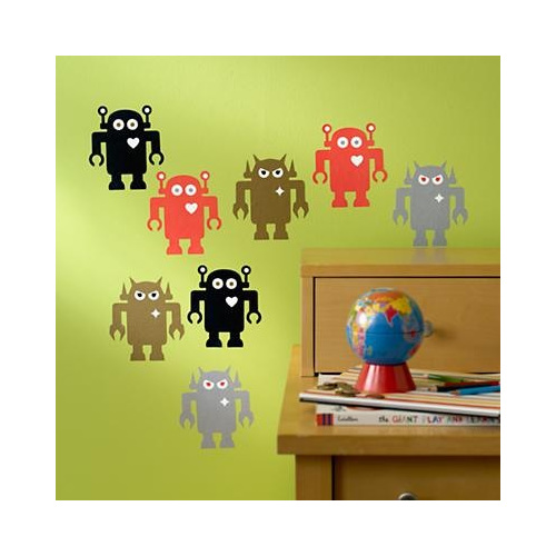 Giant robots wall decals monkey buttons for Robot room decor