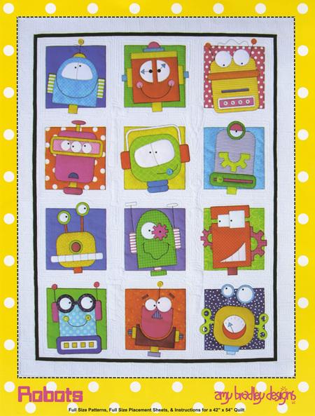 Robots Quilt Pattern