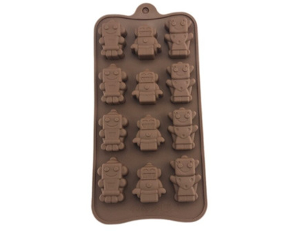 Robots Shaped Tray Silicone Mould