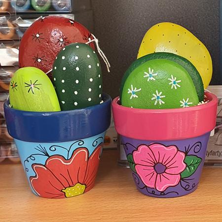 Rock Cacti Pots