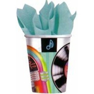 Rock N Roll Party Cups x 8