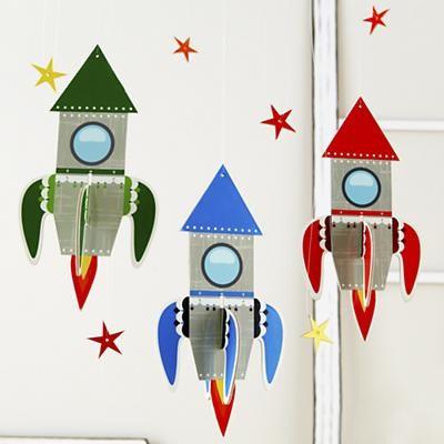 Rocket Ship - Blue