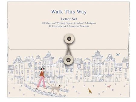 Roger La Borde Walk this Way Writing Letter Set