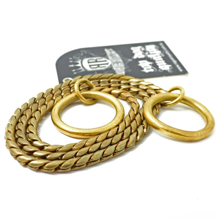 Rogue Royalty Brass Snake Slip Chain, Choker Chain