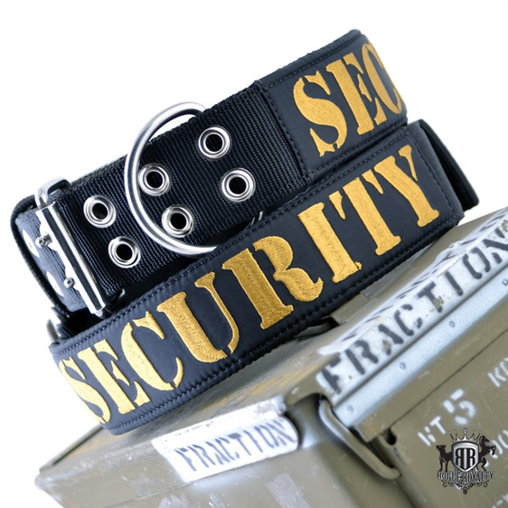 Rogue Royalty SupaTuff Heavy Duty Tough Dog Collar Black Security