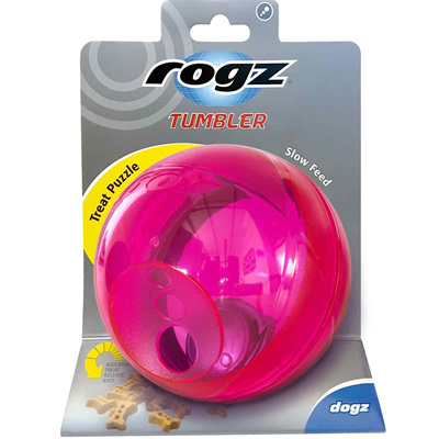 Rogz Tumbler Slow Feed Treat Puzzle for Dogs