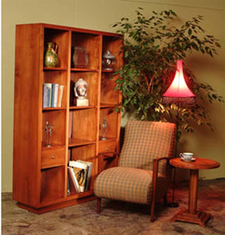 Roma Bookcase Tall with Drawers