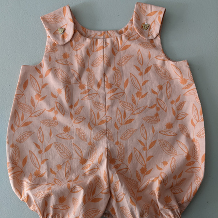 Rompers  Pink Leaves 0-12 Months