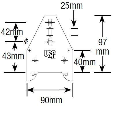 Rondo Screwfix  Short Direct Fix Clip