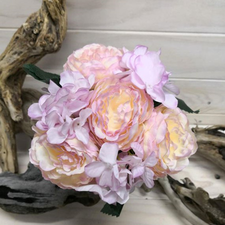 Rose and Hydrangea  Posy #4263