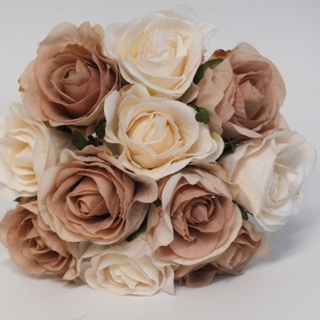 Rose Bud Posy Cream Brown 4185