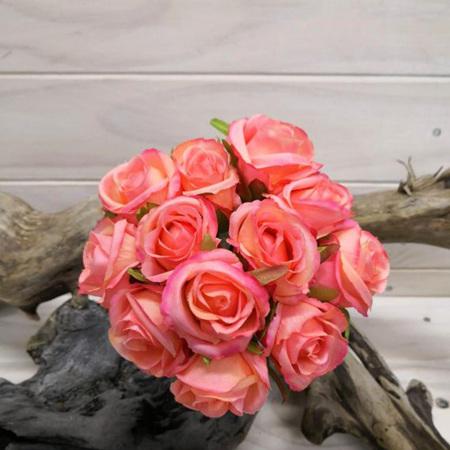 Rose Bud Posy Salmon 4138