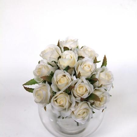 Rose Bud Posy white 4468