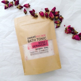 Rose Geranium Artisan Bath Tonic