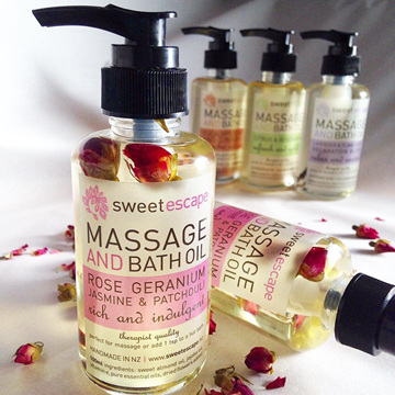 Rose Geranium Gourmet Bath & Massage Oil