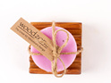 Rose Geranium Soap on Small Dish