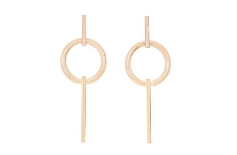 Rose Gold Circle Earrings