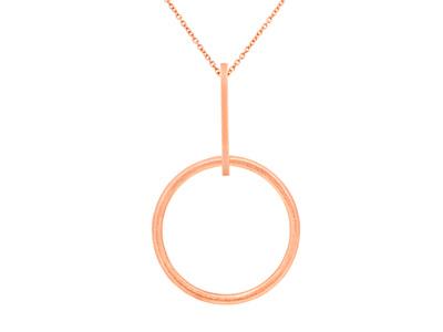 Rose Gold Circle Pendant
