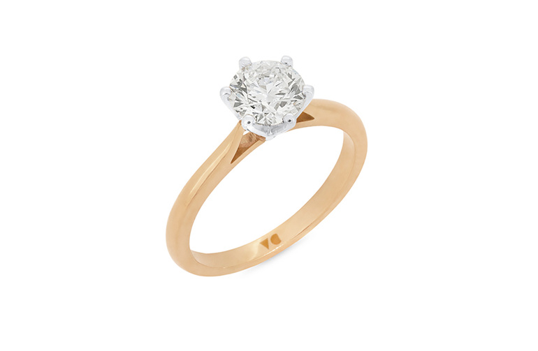 Rose Gold Diamond Solitaire Engagement Ring