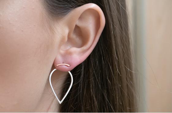 Rose Gold, Impulse, Stud, Earrings, Whim