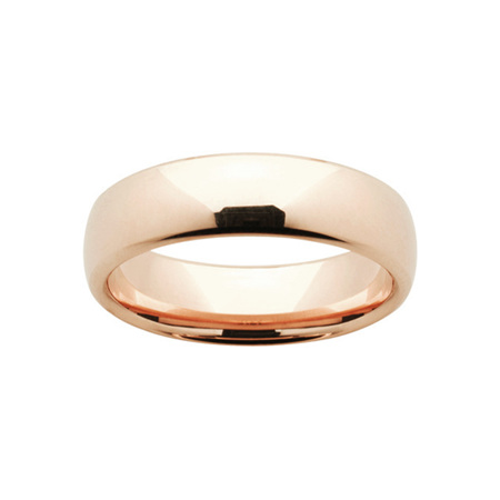 Rose Gold Mens Comfort Curve Wedding Ring
