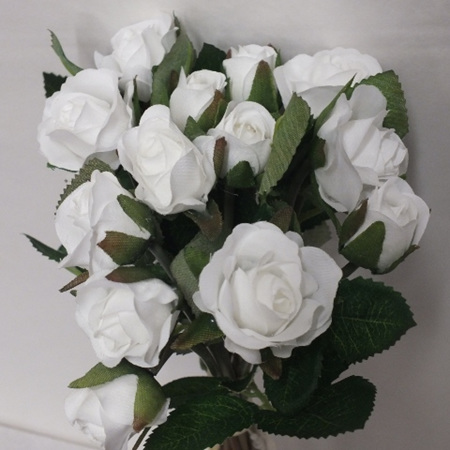 Rose Mini posy white 4556