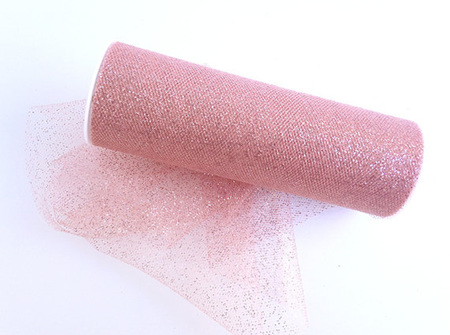 Rose pink glitter tulle