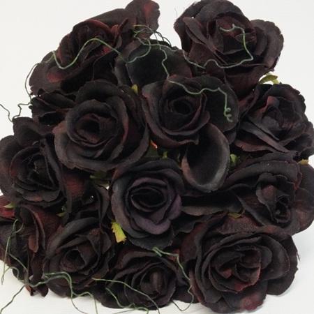 Rose Posy 1007 Dark Burgundy