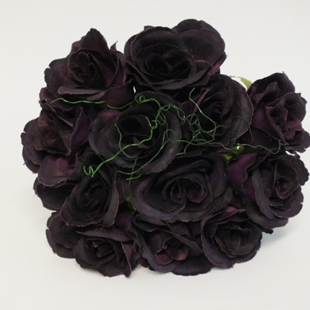 Rose Posy 1007  Deep Plum