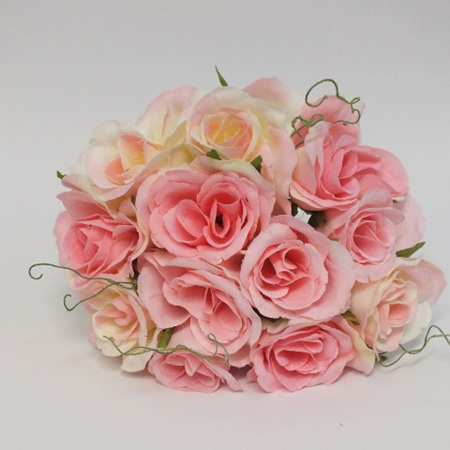 Rose Posy 1007  Pink and white