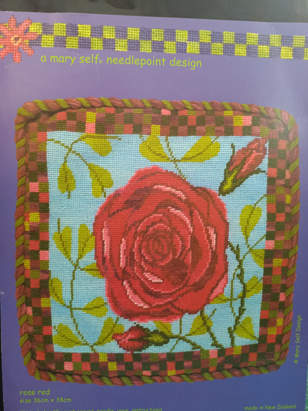 Rose Red Cushion Kit by Mary Self