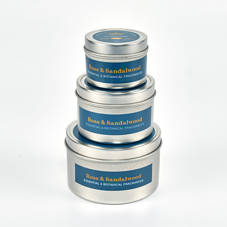 Rose & Sandalwood Candle Tin