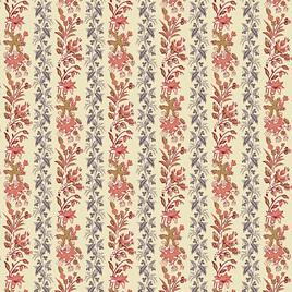 Rose Vining Floral Stripe A-9134-R