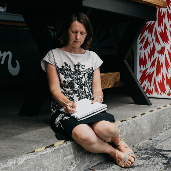 Rose Wells, Illustrator and owner of StickyTiki