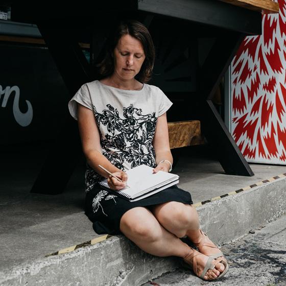 Rose Wells, Illustrator and owner of StickyTiki
