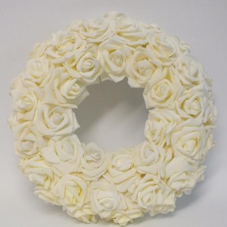 Rose Wreath Ivory 4156