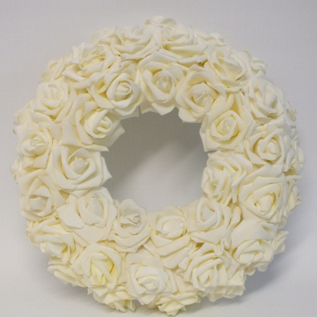 Rose Wreath Ivory 4156