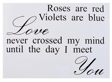 Roses Are Red - Wall Art Stickers