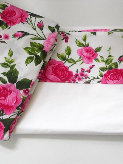 Rosy Posy Cot Sheet Set