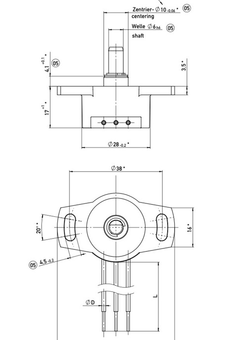 rotary potentiometer drawing throttle steering