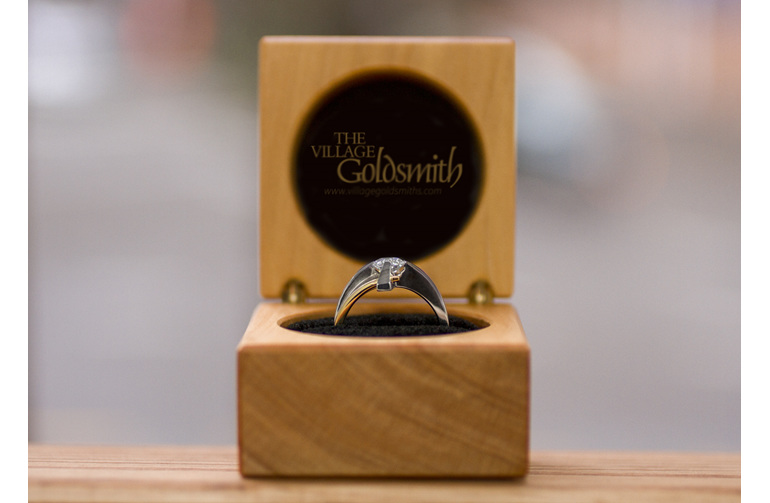 rotec diamond ring design in village goldsmith ring box