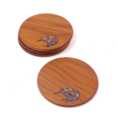 Round Coasters with Paua