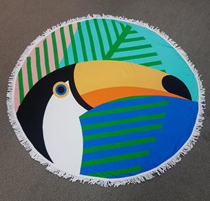 Round beach towel - Toucan