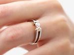 Round Brilliant Cut Diamond Ring - Circlipd Brilliant on hand