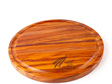 round cheese board with juice groove - silver fern - heart rimu